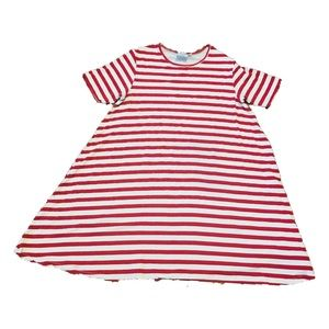 ASOS Red & White Striped Maternity Midi Dress